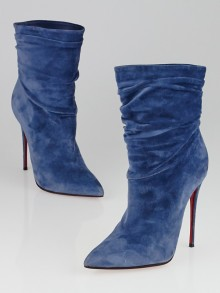 christian louboutin two-tone lace-up booties