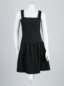Chanel Black Wool Blend Knit Sleeveless Dress Size 4/36