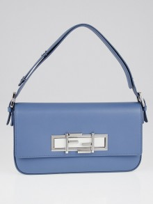 Fendi Cerulean Blue Calfskin Leather 3Baguette Shoulder Bag 8BR720