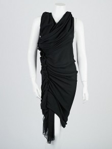 3.1 Phillip Lim Black Silk Sleeveless Drape Dress Size 0