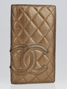 Chanel Bronze Cambon Long Bi-Fold Wallet