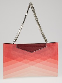 Fendi Red Colorblock Saffiano Leather Large Clutch Bag 8BP075