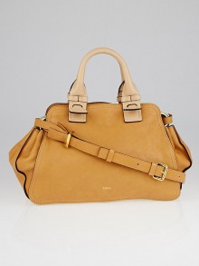 Chloe Wet Sand Leather Fynn Small Satchel Bag
