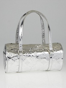 Louis Vuitton Limited Edition Silver Monogram Miroir Papillon Bag