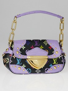Louis Vuitton Limited Edition Purple Alligator Black Monogram Multicolore Marilyn Bag