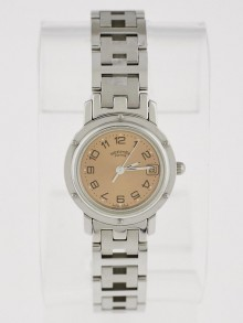 Hermes 24mm Stainless Steel Clipper Classique PM Watch CL4.210