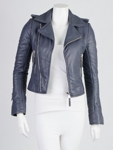 Balenciaga Cyclone Lambskin Leather Classic Moto Jacket Size 2/34