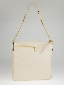 Chloe Angora Beige Leather Vanessa Chain Shoulder Bag