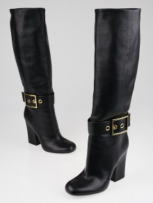 Gucci Black Leather Kesha Tall Boots Size 9.5/40