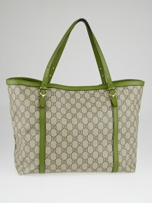 Gucci Beige/Green GG Supreme Coated Canvas Nice Tote Bag