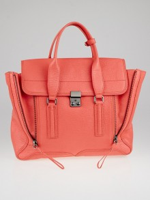 3.1 Phillip Lim Coral Pebbled Leather Large Pashli Satchel Bag