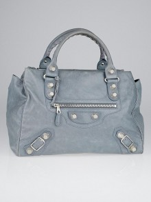 Balenciaga Ardoise Lambskin Leather Giant 21 Silver Midday Bag