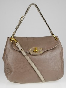 Miu Miu Argilla Nappa Leather Turnlock Hobo Bag RR1814