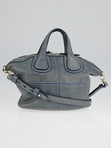 Givenchy Grey Lambskin Leather Micro Nightingale Bag