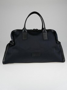 Alexander McQueen Navy Mesh Fabric De Manta Weekend Bag