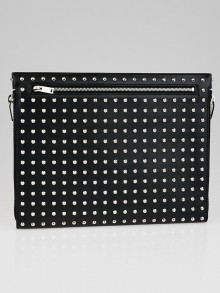 Yves Saint Laurent Black Leather and Studded Pochette