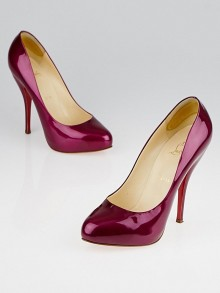 Christian Louboutin Cramberry Patent Leather Feticha 120 Pumps Size 8/38.5