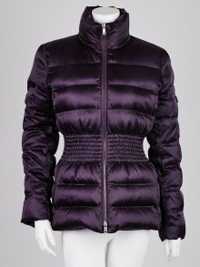 Prada Purple Quilted Nylon Down Jacket Size 8/42