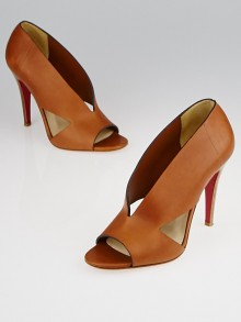 Christian Louboutin Brown Leather Creve Coeur 100 Pump Size 6.5/37