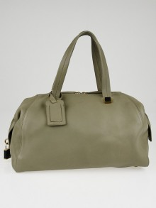 Celine Grey Calfskin Leather Boston Bag