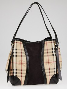 Burberry Haymarket Check Coated Canvas Colorblock Canterbury Tote Bag