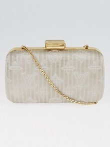Louis Vuitton Limited Edition Pearl Monogram Minaudiere Motard Clutch Bag