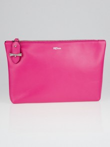 Alexander McQueen Pink Leather Legend Clutch Bag