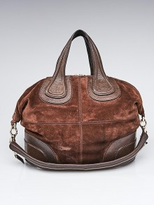 Givenchy Brown Suede Calfskin Leather Medium Nightingale Bag