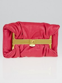 Miu Miu Peonia Nappa Leather Gold Frame Clutch Bag RP0097