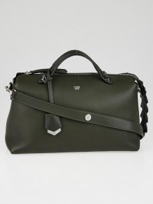 Fendi Dark Green Calfskin Leather Large By the Way Bag 8BL125