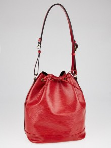 Louis Vuitton Red Epi Leather Large Noe Bag