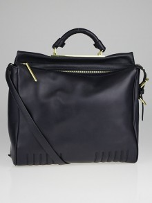 3.1 Phillip Lim Dark Navy Leather Ryder Satchel Bag