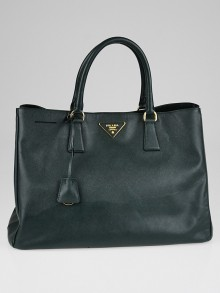 Prada Smeraldo Saffiano Lux Leather Large Tote Bag BN1844
