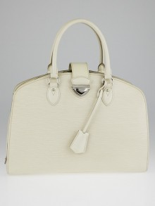 Louis Vuitton White Epi Leather Pont-Neuf GM Bag