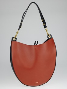 Celine Brick Multicolor Smooth Calfskin Leather Medium Hobo Bag