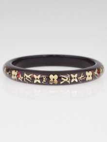Louis Vuitton Amarante Resin Monogram Inclusion PM Bracelet