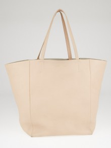 Celine Nude Pink Drummed Calfskin Leather Horizontal Phantom Medium Cabas Tote Bag