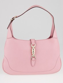 Gucci Pink Pebbled Leather Jackie Small Hobo Bag