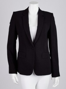 Givenchy Black Viscose Blend Blazer Jacket Size 4/38