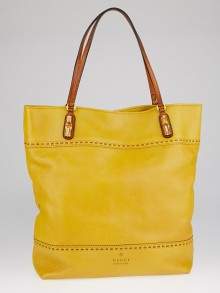Gucci Yellow Leather Laidback Crafty Tote Bag
