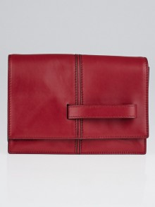 Valentino Red Nappa Leather My Own Code Clutch Bag