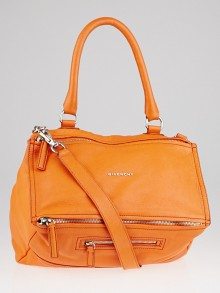 Givenchy Orange Sugar Goatskin Leather Medium Pandora Bag