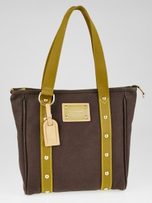 Louis Vuitton Limited Edition Brown/Khaki Toile Canvas Antigua Cabas MM Bag