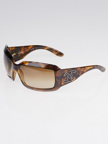 Chanel Brown Tortoise Shell Lizard CC Sunglasses
