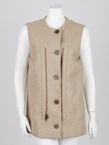 Stella McCartney Beige Cotton Long Vest Size 10/44