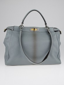 Fendi Light Blue Ombre Leather Peekaboo Bag 8BN210