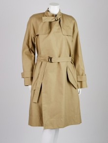 Isabel Marant Khaki Cotton Blend Only Baroudeur Light Chic Trench Coat Size 8/40