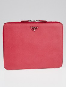 Prada Pink Saffiano Leather iPad Case