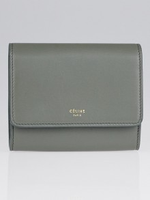 Celine Grey Smooth Leather Compact Wallet