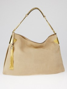 Gucci Beige Nubuck Leather 1970 Shoulder Bag